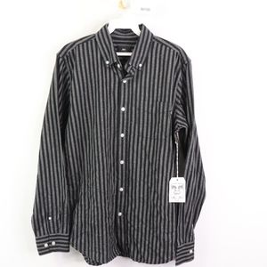 New OBEY Propaganda Mens Small Woven Striped Shirt